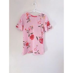 Old Navy Pink Floral Dress 3/4 sleeves 3T